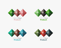 Set of square abstract background templates or infographics Stock Photography