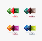 Set of square abstract background templates or infographics Royalty Free Stock Image
