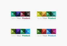 Set of square abstract background templates or infographics. Set of color translucent squares abstract background templates or infographics with place for your Royalty Free Stock Image