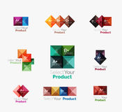 Set of square abstract background templates or infographics. Set of color translucent squares abstract background templates or infographics with place for your Royalty Free Stock Images