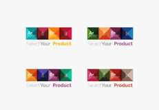 Set of square abstract background templates or infographics. Set of color translucent squares abstract background templates or infographics with place for your Royalty Free Stock Photo