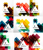 Set of square abstract backgrounds Stock Photos