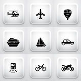 Set of square application buttons: navigation Royalty Free Stock Image