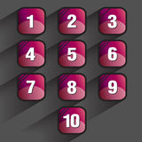 Set of square buttons Royalty Free Stock Images