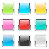 Set of square buttons Royalty Free Stock Photo