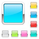 Set of square buttons. Vector illustration. Eps 10 Royalty Free Illustration
