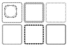 Set - square decorative frames - vector Stock Images