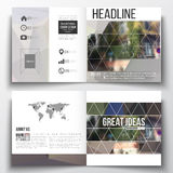 Set of square design brochure template.  Royalty Free Stock Images
