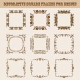 Set of square frames for design Royalty Free Stock Photo