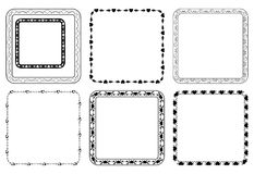 Set of square frames for valentine day - eps Royalty Free Stock Images