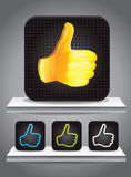 Set of square icons with best choice signs Royalty Free Stock Image