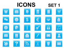 Set of square icons Stock Images