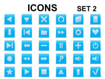 Set of square icons Royalty Free Stock Photos