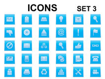Set of square icons Royalty Free Stock Images