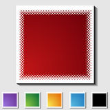Set of Square Icons - Half Tone - Blank Stock Photos