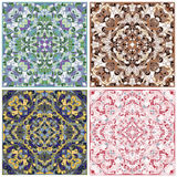Set of square patterns Royalty Free Stock Images