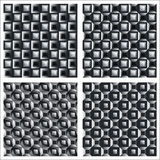 Set square patterns of the graphical elements. Monochrome Vector Illustration