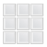 Set of square picture frames Royalty Free Stock Photos