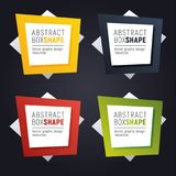 Set of square polygon banners of bright colors. Ready to use option infographics. Flashy frame for your message vector illustration