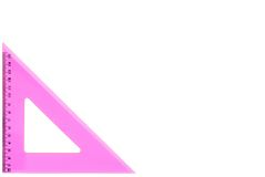 Set square - pretty in pink Royalty Free Stock Image