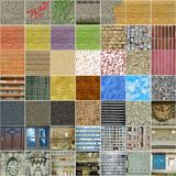 Set of 49 square seamless textures. Set of 49 square textures, mostly seamless Royalty Free Stock Images