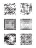 Set of square shapes with hatching. Royalty Free Stock Photos