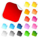 Set of square stickers. Isolated on white background stock illustration