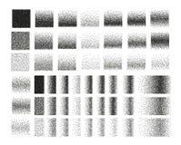 Set of 51 square stipple pattern for design. Tile spots royalty free illustration