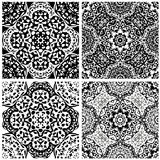 Set of squared backgrounds - ornamental seamless Stock Photography
