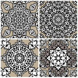 Set of squared backgrounds - ornamental seamless Stock Photo