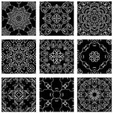 Set of squared backgrounds - ornamental seamless pattern Stock Image