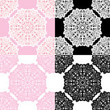 Set of squared backgrounds - ornamental seamless pattern. Royalty Free Stock Images