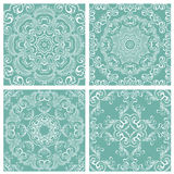 Set of squared backgrounds - ornamental seamless pattern. Royalty Free Stock Photo