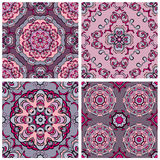 Set of squared backgrounds - ornamental seamless pattern.gn Royalty Free Stock Photography