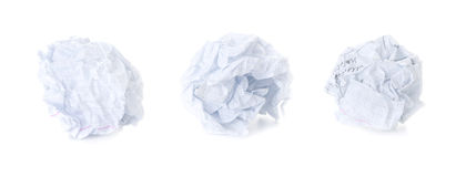 Set of  Squared Crumpled Paper Ball Royalty Free Stock Image