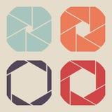 Set of squares shutter icon. Stock Photos