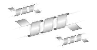 Set srebro kręceni faborki Fotografia Stock