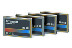 Set of SSD Royalty Free Stock Photo