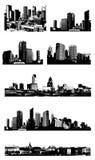 Set Städte. Vektor lizenzfreie abbildung