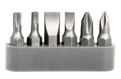set stål för bitskruvmejsel Arkivbilder
