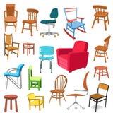 Set Stühle Stockbild