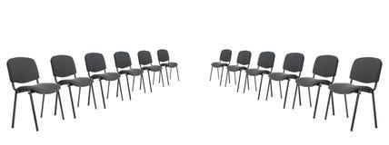 Set Stühle für Diskussion Stockfoto