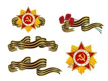 Set the St. George order ribbon Royalty Free Stock Images