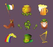 Set for St. Patric Day Royalty Free Stock Image
