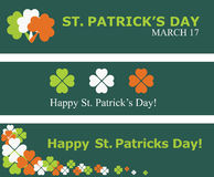 Set of St. Patrick's day banners Royalty Free Stock Photo