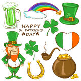 Set of St. Patrick's day icons Stock Photos