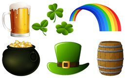 Set of St Patrick s Day vector illustration