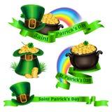 Set of St.Patrick`s Day logos. Symbols for St.Patrick`s Day Royalty Free Stock Photo