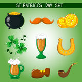 Set of St. Patrick's Day. Object Stock Image