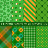Set of St. Patrick's Day seamless pattern Stock Images
